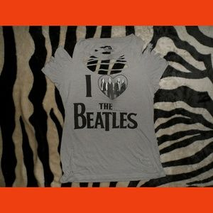 The Beatles Hand Cut T-Shirt One Of A Kind